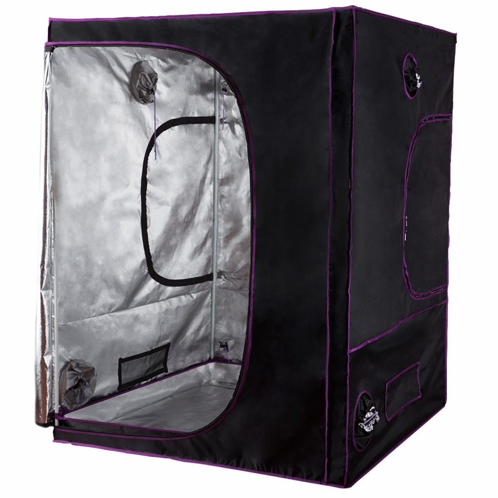 """Apollo Horticulture 60""""x60""""x80"""" Mylar Hydroponic Grow Tent for Indoor Plant Growing 5×5 Grow Tent"""