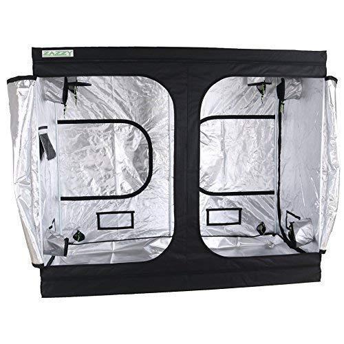 """Zazzy 96""""X48 X78 Plant Growing Tents 600D Mylar Hydroponic 5×5 Grow Tent"""