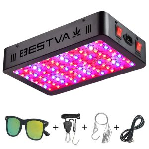 BESTVA 1000W LED Grow Light Full Spectrum Dual Chip Growing Lamp
