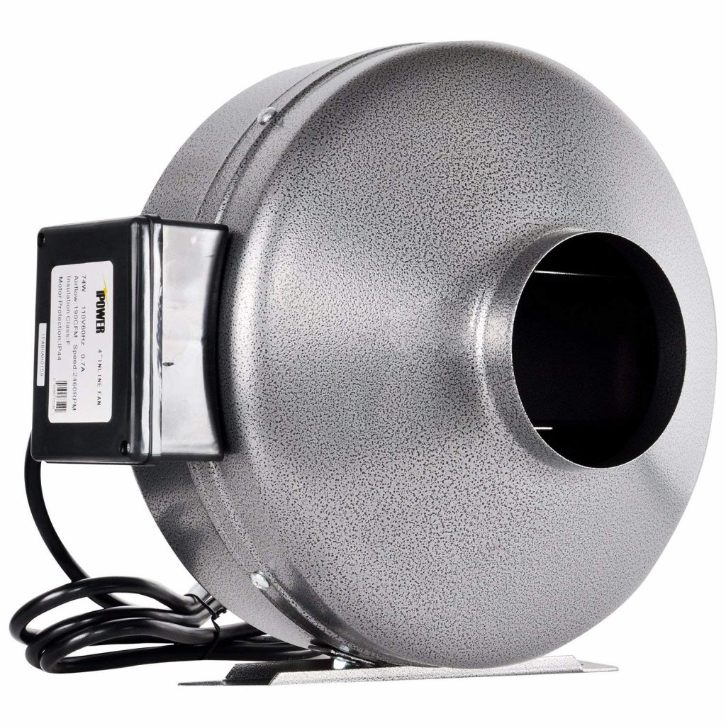 iPower 6 Inch 442 CFM Inline Duct Ventilation Fan