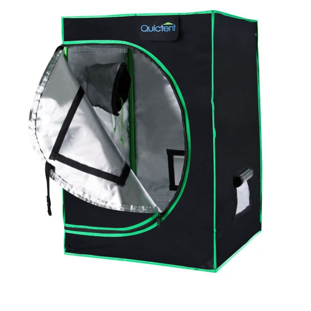 Quictent Eco friendly 16x16x48 Inches Reflective Mylar Hydroponic Grow Tent
