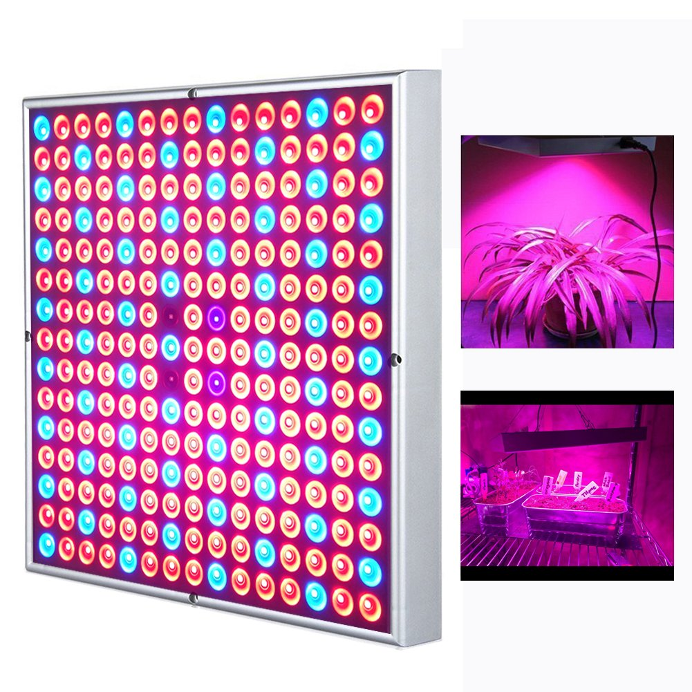 45W LED Grow Light for Indoor Plants 225 LEDs Full Spectrum Plant Lights Bulb Panel