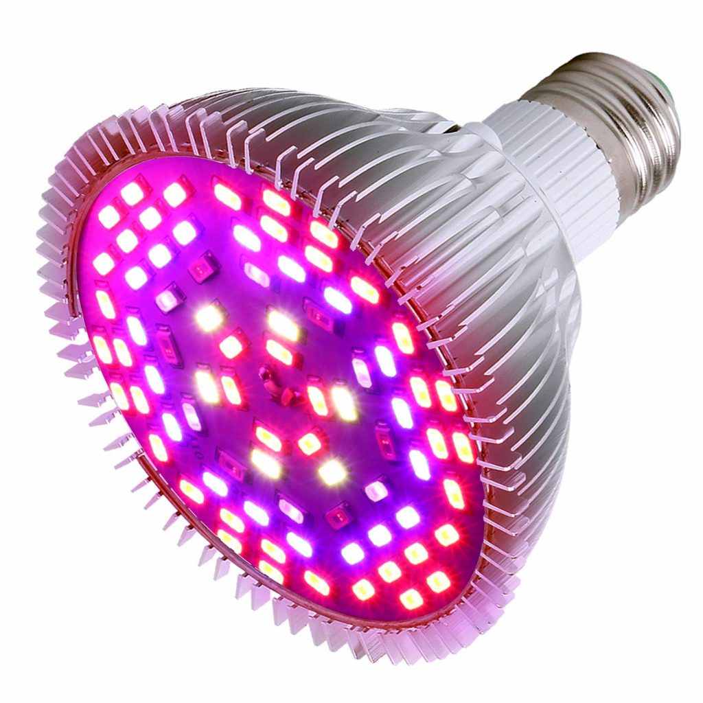 50W Led Grow Light Bulb, Led Plant Bulb Full Spectrum Grow Lights for Indoor Plants