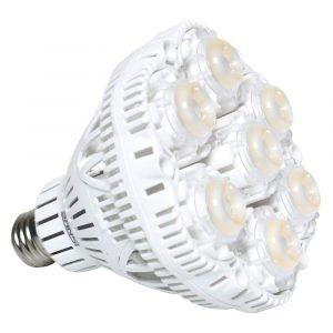 SANSI 40W Daylight LED Plant Light Bulb, Full Spectrum Ceramic LED Grow Light Blub