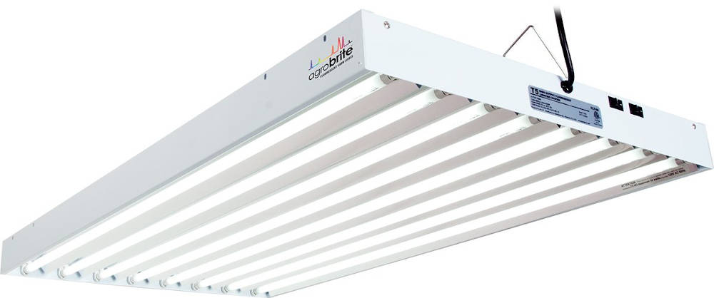 Hydrofarm Agrobrite FLT48 T5 Fluorescent Grow Light System