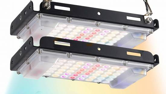 ECRU LED Grow Light Twin Panel - 400W Equivalent Grow Lights (2 x 200W) with Natural Full Spectrum LED Light Bulbs