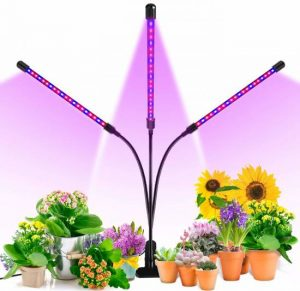 Grow Light, Ankace 60W Tri Head Timing 60 LED 5 Dimmable Levels Plant Grow Lights for Indoor Plants