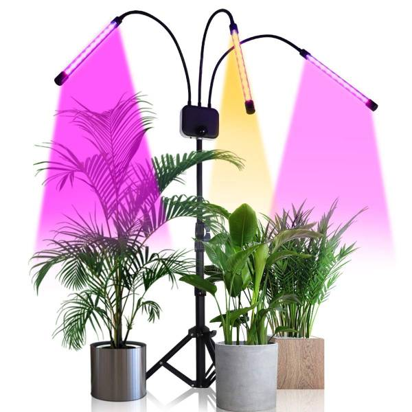 Grow Light with Stand,GHodec Tri-Head 90 LEDs Floor Plant Lights for Indoor Plants