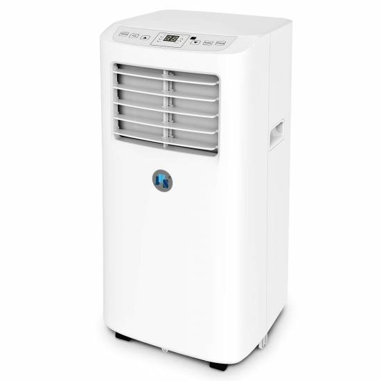 JHS 8,000 BTU Small Portable Air Conditioner, 3-in-1 Floor AC Unit with 2 Fan Speeds