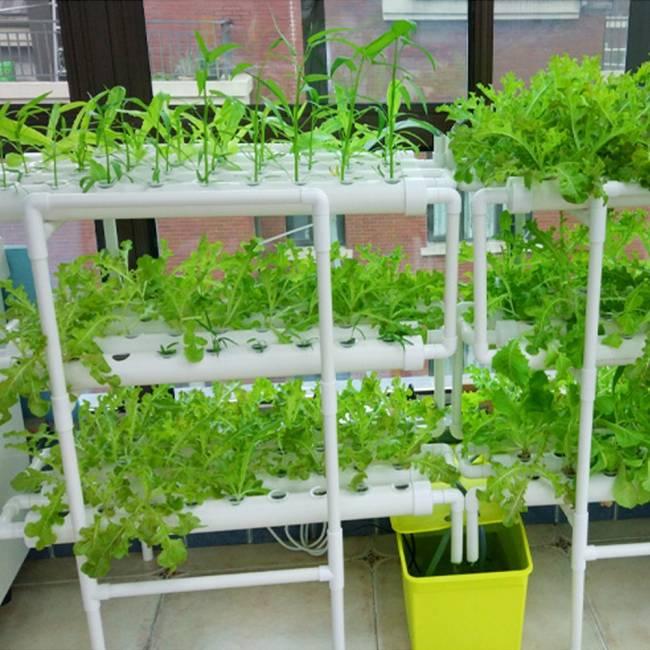 LAPOND Hydroponic Grow Kit,3 Layers 108 Plant Sites PVC Pipe Hydroponics 12 Pipes Hydroponics Growing System