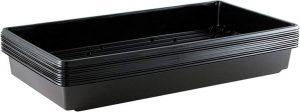 Yield Lab 10 x 20 Inch Black Plastic Propagation Tray (10 Pack) – Hydroponic, Aeroponic