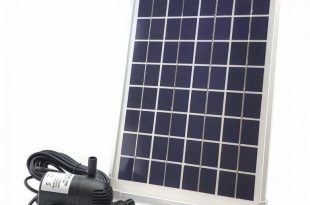 Solariver Solar Water Pump Kit - 360+GPH - Submersible Pump and 20 Watt Solar Panel