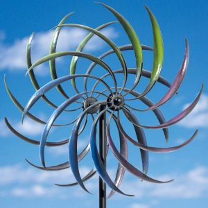 Bits and Pieces - The Original Rainbow Wind Spinner - Decorative Lawn Ornament Wind Mill