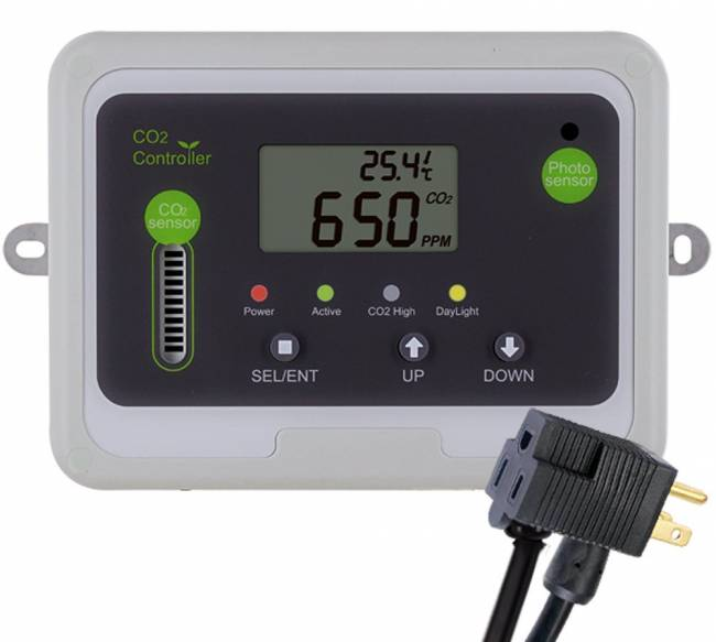 Day and Night CO2 Monitor and Controller for Greenhouses