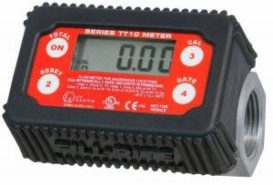 Fill-Rite TT10AN 1 2-35 GPM(8-132 LPM) Digital In-line Turbine Meter, Aluminum, Fuel Transfer Meter