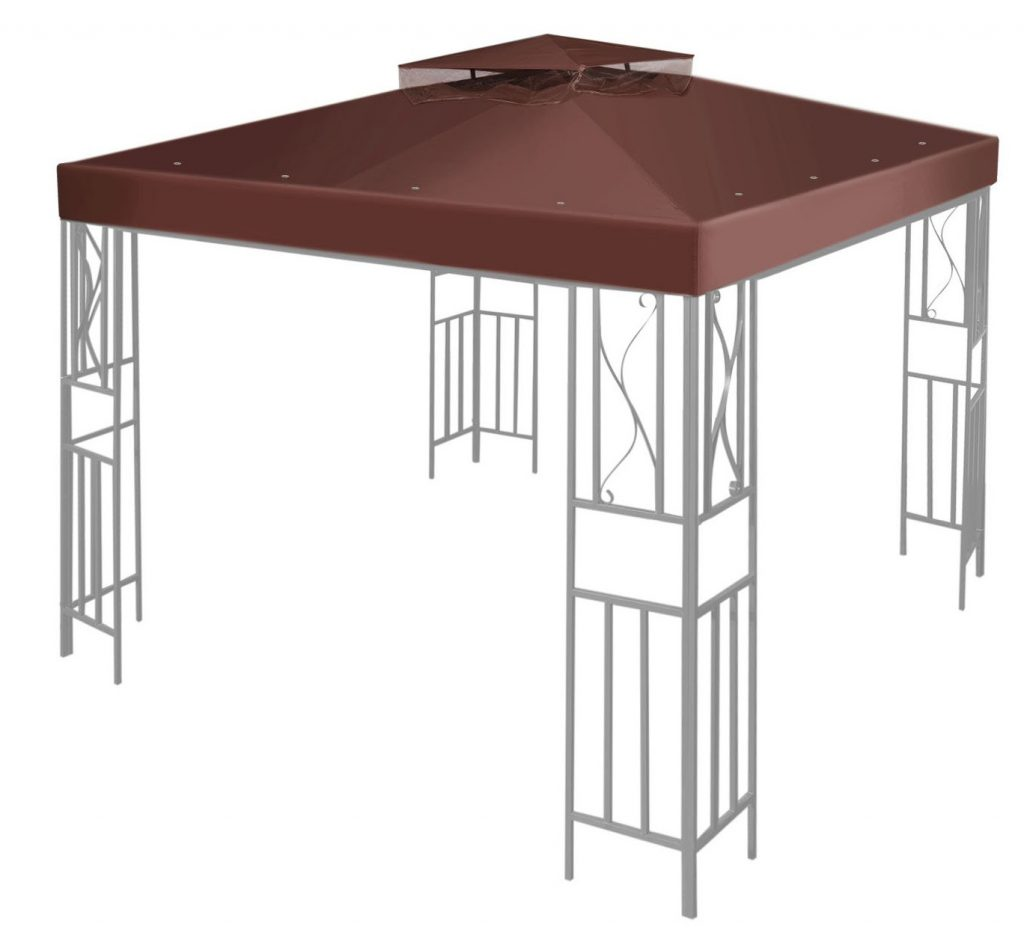 Flexzion 10' x 10' Gazebo Canopy Top Replacement Cover