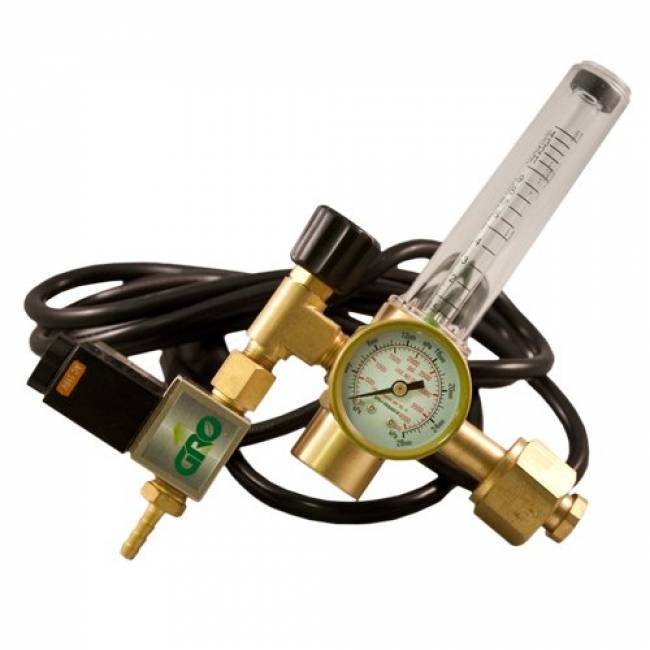GROW1 CO2 Grow Room Environment Regulator Flow Meter Solenoid