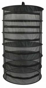 Herb Drying Rack 6 Layer Collapsible Black Mesh Hanging Drying Rack with Zipper Opening