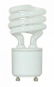 KOR 13 Watt Mini Spiral - GU24 Base - (60W Equivalent) - T2 Mini-Twist - CFL Light Bulb