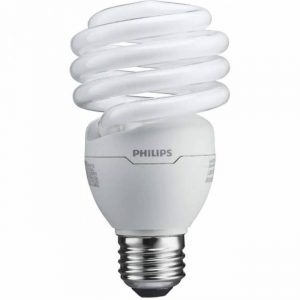 Philips T2 Spiral CFL Light Bulb: 6500K, 100-Watt, Daylight, E26 Medium Screw Base