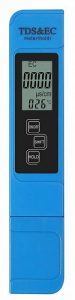 Proster PH Meter with TDS EC Meter Digital PH Tester with 0-9999 TDS EC Water Quality Tester