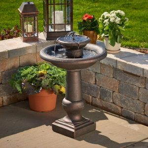 Smart Solar 24260RM1 Chatsworth 2-Tier Solar-On-Demand Fountain