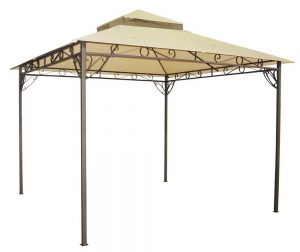 Yescom 10.6'x10.6' Outdoor Waterproof Gazebo Canopy Top Replacement 2-Tier Cover for Madaga Frame