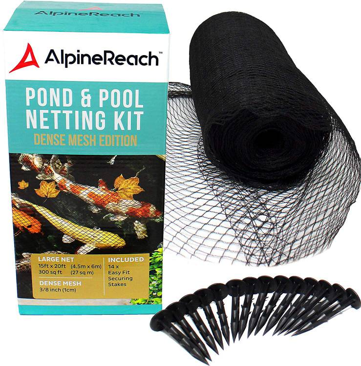 AlpineReach 15 x 20 Feet Koi Pond Netting Kit Gift Box
