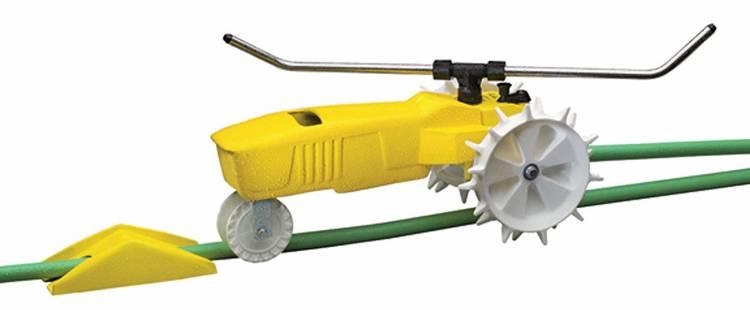 Nelson Traveling Sprinkler RainTrain 13,500 Square feet Yellow 818653 1001