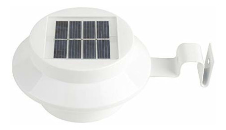 iSunMoon 6 Pack Gutter Solar Lights Outdoor LED Gutter Lights Solar Powered for Fence Roof Gutter