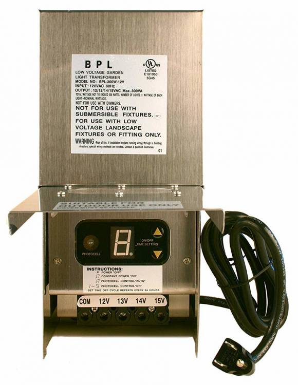 Best Pro Lighting 300W Low Voltage Landscape Light Transformer 12V