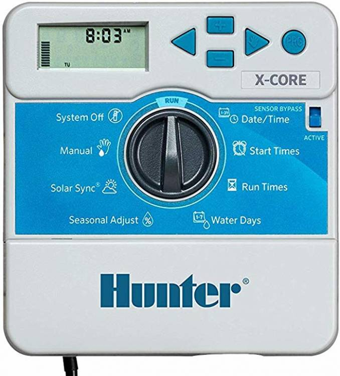 Hunter Sprinkler XC600i X Core 6 Station Indoor Controller Timer 6 Zone,Black,Small