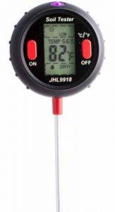 LYCSIX66 Soil Test Kit 5 in 1 Soil pH Tester Electronic Soil Thermometer