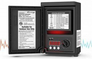 Malibu 120 Watt Power Pack with Sensor and Weather Shield for Low Voltage Landscape Lighting Spotlight Outdoor Transformer