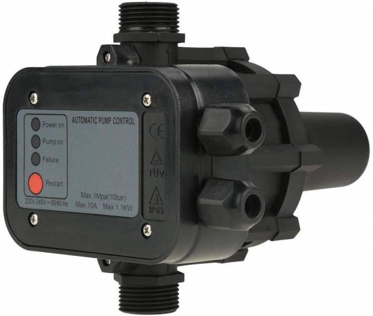 Maxmartt Pressure Switch, 220V Black Self Priming Water Pump Pressure Switch Automatic Pressure Controller