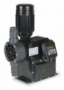 Pulsafeeder DC2B2AP Pulsafeeder Diaphragm Metering Pump, Aluminum Body, SST Head & Fitting, Motor Driven, 333 GDP, 88 Max Strokes