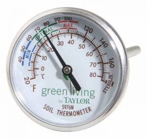 Taylor Soil Testing Thermometer, 4 Stem, 20 to 180 Degrees F