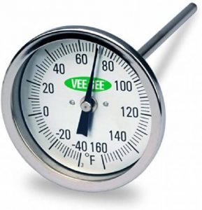 Vee Gee Scientific 82160 6 Dial Soil Thermometer, 6 Stainless Steel Stem