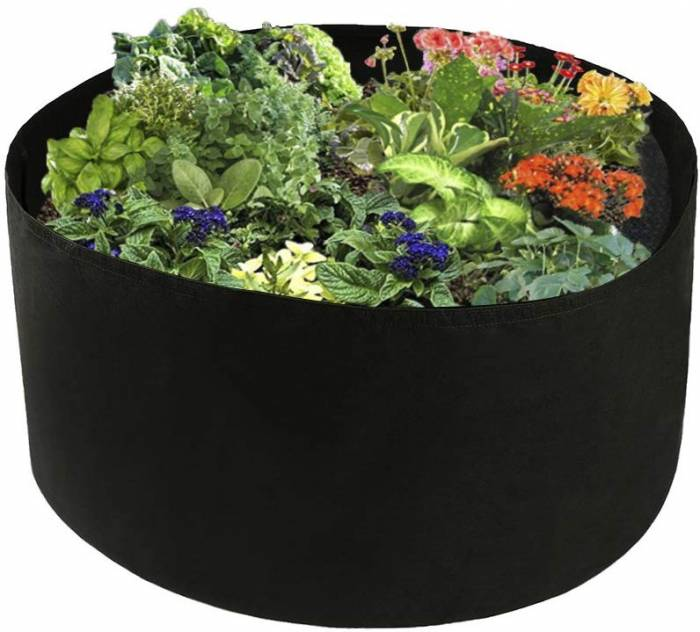 Xnferty 100 Gallons Extra Large Round Raised Garden Bed, Deep Soil Diameter 38 Height 20 Planting Container Grow Bags Durable Felt Fabric Planter Pot for Plants,Vegetables,Flowers