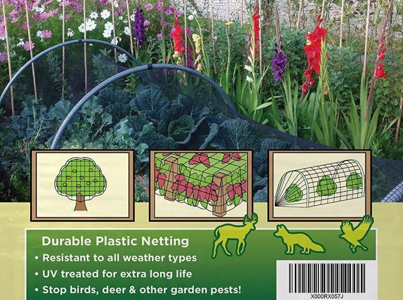 Bird Netting [Heavy Duty] Protect Plants and Fruit Trees Extra Strong Garden Net for raised garden bed