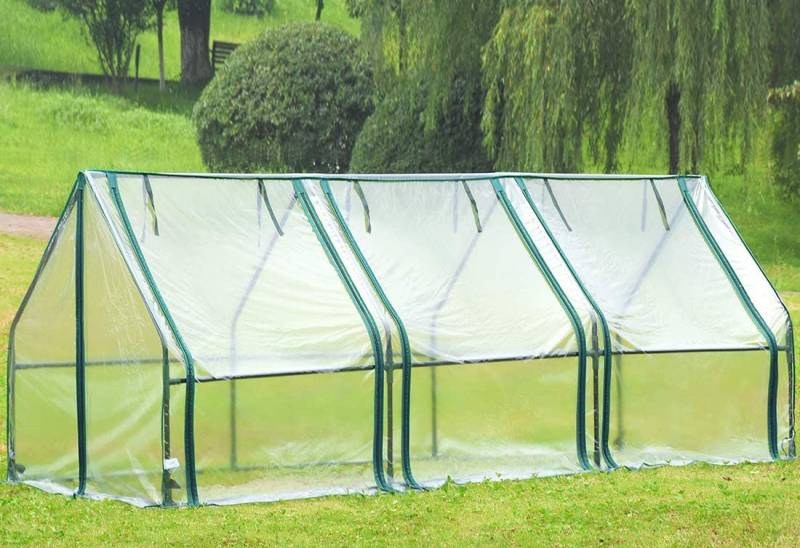 Quictent Waterproof UV Protected Reinforced Mini Cloche Greenhouse For raised bed garden