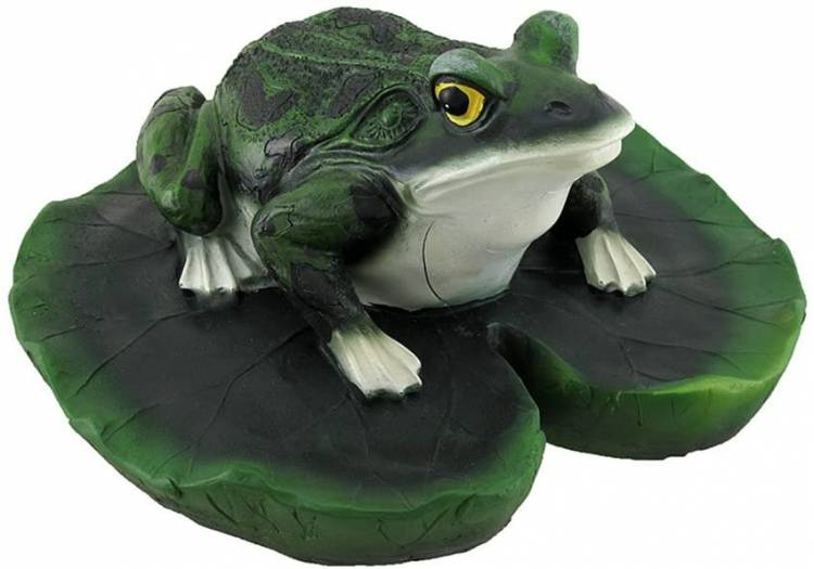Zeckos Frog on Lily Pad Floating Pool or Pond Ornament koi pond decoration