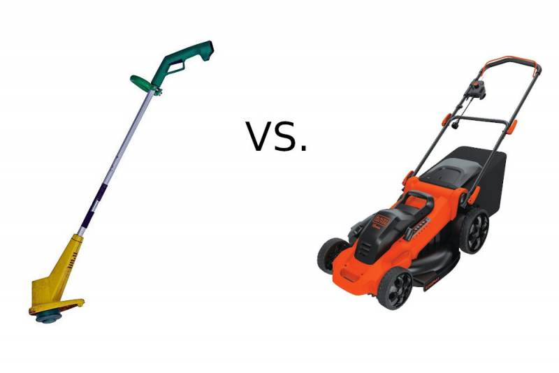 Difference Between a Weed Eater and a Lawn Mower