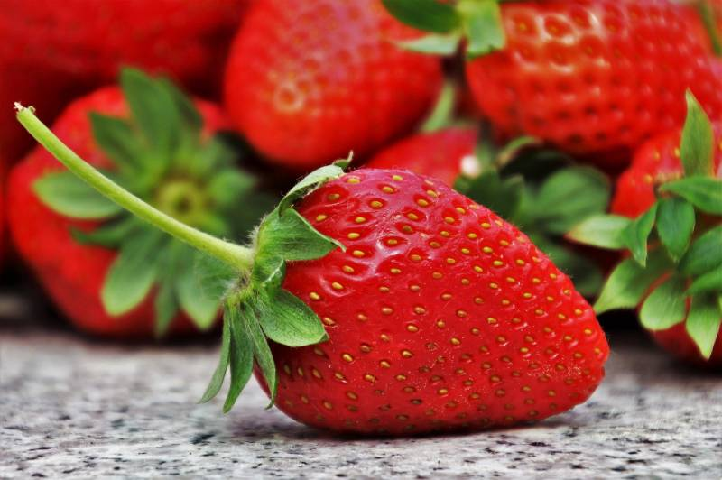 Strawberry is a fruit with many seeds