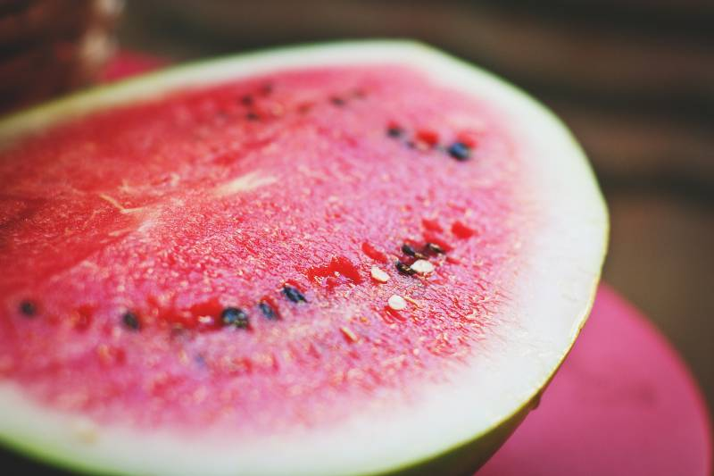 Watermelon is a fruit with many seeds